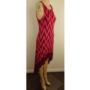 Ella Moss Anthropologie Chevron High Low Dress